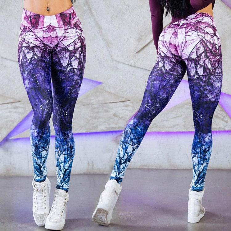 c527739b3 DomůŽENYDámské legíny Stylové dámské fitness legíny Violet