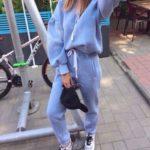 Blue 2Pcs Suit